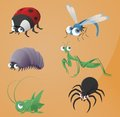 Bugs icons Stock Photos