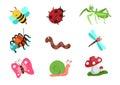 Bugs life vector cartoon Royalty Free Stock Photo