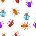Bugs pattern, cartoon style