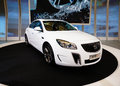 Buick regal shanghai sedan in its exhibition hall in international auto show shanghai Stock Photography