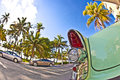 Buick stands as attraction ocean drive miami south florida Stock Photography