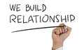 We Build Relationship, Concept Typography Royalty Free Stock Photo