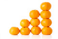 Build up satsuma on the white background Stock Photos