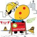 Builder cartoon