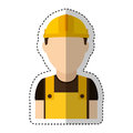 Builder construction avatar icon Royalty Free Stock Photo