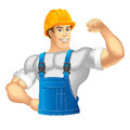 Builder construction worker vector illustration Stock Photos