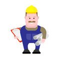 Builder engineer illustration of on white background Royalty Free Stock Images