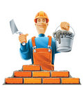 Builder in helmet Royalty Free Stock Photos