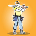 Builder icon. Royalty Free Stock Photo