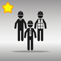 Builder icon illustration Royalty Free Stock Photo