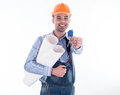 A builder man Stock Image