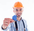 A builder man Royalty Free Stock Photo