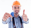 A builder man Royalty Free Stock Photos