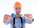 A builder man Royalty Free Stock Image