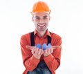 A builder man Stock Photo