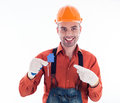 A builder man Royalty Free Stock Photography