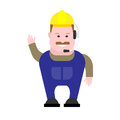 Builder operator illustration of on white background Stock Images