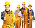 Builder team Royalty Free Stock Photo