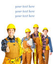 Builder team Royalty Free Stock Photography