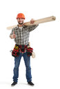 Builder in uniform showing thumbs up Royalty Free Stock Photo