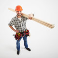 Builder in uniform Royalty Free Stock Photo