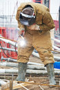 Builder worker wellder at work Stock Photography