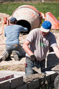 Builders working Royalty Free Stock Photo