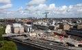 Building activity in central stockholm sweden Stock Images