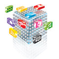 Building block apps this is the illustration of blocks used to display Royalty Free Stock Image