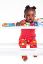 Building blocks before bed time. Stock Image