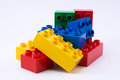 Building blocks lego stacked Royalty Free Stock Photos