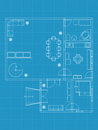 Building blueprints Stock Image