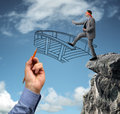 Building bridges - assistance for business Royalty Free Stock Photo