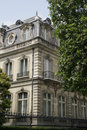 Building on Champs Elysee, Paris. Royalty Free Stock Photo