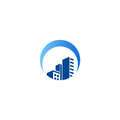 Building cityscape construction logo