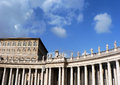 Building with columns and statues in Vatican Royalty Free Stock Photo