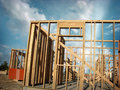 Building construction framing Royalty Free Stock Photography