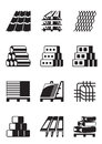 Building construction materials vector illustration Royalty Free Stock Photos