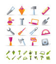 Building and Construction Tools icons Stock Photo