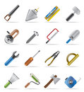 Building and Construction Tools icons Royalty Free Stock Images