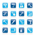Building and Construction work tool icons Royalty Free Stock Photography