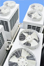 Building cooling assembly Royalty Free Stock Photo
