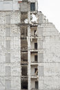 Building demolition as sign urban renewal Stock Photo