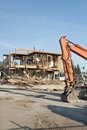 Building demolition site Royalty Free Stock Photo