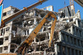 Building demolition Royalty Free Stock Photo