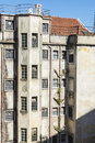 Building in disrepair the old town of lisbon portugal Royalty Free Stock Photography