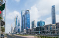 Building Dubai shops and market. Royalty Free Stock Photo