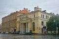 Building of Engineering department at Fontanka River in Saint Petersburg, Russia Royalty Free Stock Photo