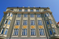Building facade with traditional shutter windows tallinn estonia Stock Photography