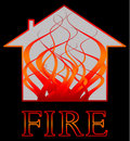 Building fire  Royalty Free Stock Image